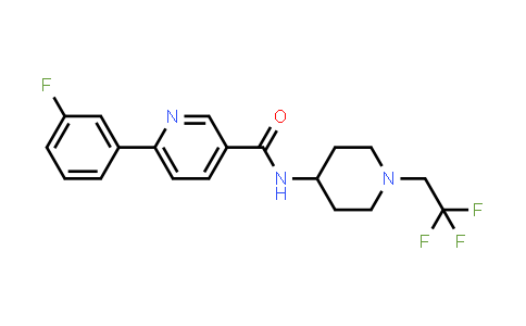 AM12163 | 1033836-12-2 | 6-(3-Fluorophenyl)-N-[1-(2,2,2-trifluoroethyl)-4-piperidinyl]-3-pyridinecarboxamide