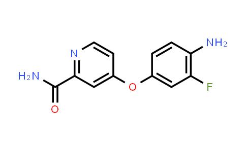 AM12167 | 757251-54-0 | 4-(4-amino-3-fluorophenoxy)pyridine-2-carboxamide