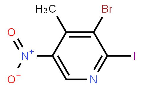 3-bromo-2-iodo-4-methyl-5-nitropyridine