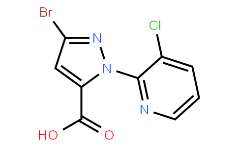 3-BroMo-1-(3-chloropyridin-2-yl)-1H-pyrazole-5-carboxylic acid