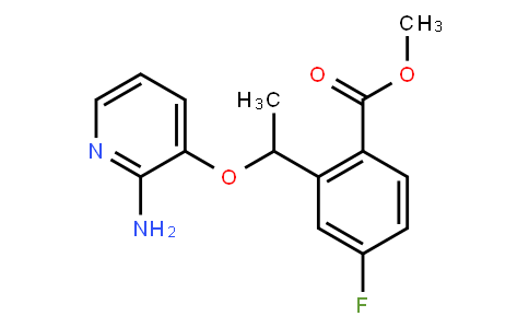 Methyl 2-[1-(2-aminopyridin-3-yl)oxyethyl]-4-fluorobenzoate