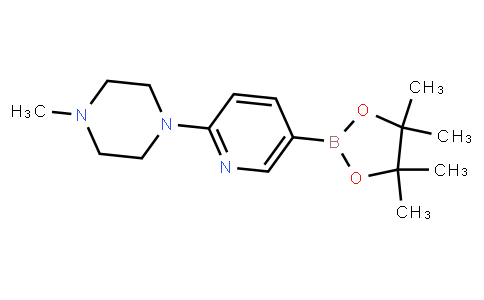 1-Methyl-4-[5-(4,4,5,5-tetramethyl-1,3,2-dioxaborolan-2-yl)pyridin-2-yl]piperazine