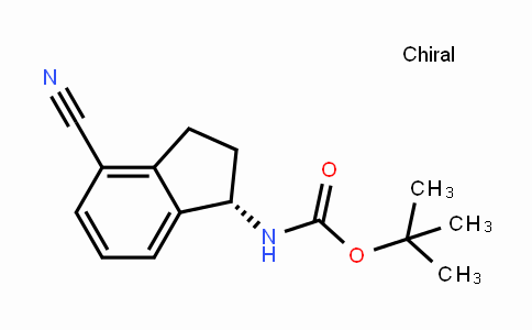(S)-tert-butyl (4-cyano-2,3-dihydro-1H-inden-1-yl)carbamate