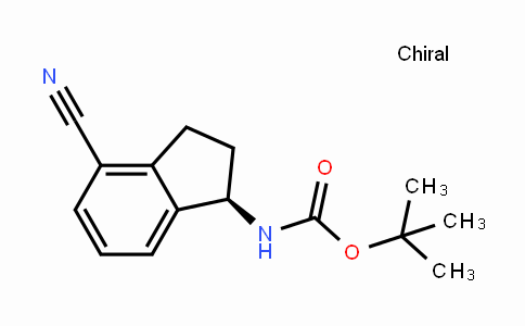 (R)-tert-butyl (4-cyano-2,3-dihydro-1H-inden-1-yl)carbamate