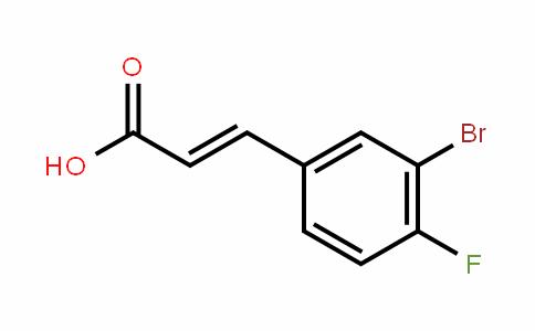 3-Bromo-4-fluorocinnamic acid