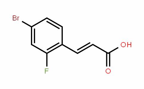 4-Bromo-2-fluorocinnamic acid