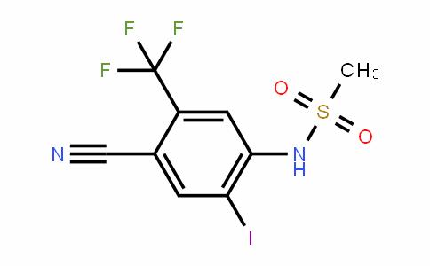 4-Cyano-2-iodo-N-methylsulfonyl-5-(trifluoromethyl)aniline