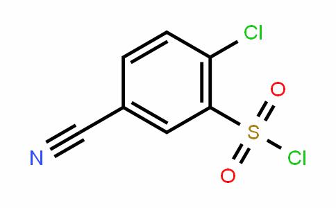 2-Chloro-5-cyanobenzene-1-sulfonyl chloride
