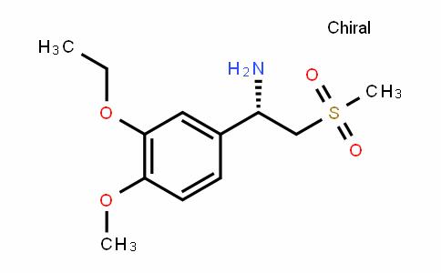 (1S)-1-(3-ethoxy-4-methoxyphenyl)-2-methylsulfonylethanamine