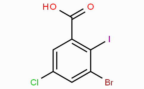 3-Bromo-5-chloro-2-iodobenzoic acid