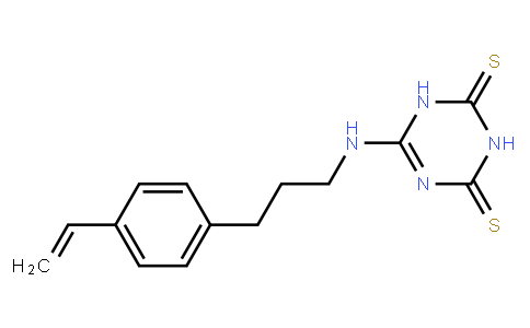 6-[4-ethenylphenyl-(n-propyl)]amino-1,3,5-triazine-2,4-dithione