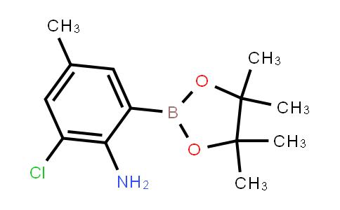 2-Chloro-4-methyl-6-(4,4,5,5-tetramethyl-1,3,2-dioxaborolan-2-yl)aniline