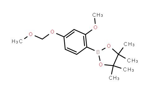 2-[2-Methoxy-4-(methoxymethoxy)phenyl]-4,4,5,5-tetramethyl-1,3,2-dioxaborolane