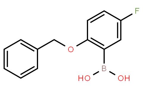 2-Benzyloxy-5-fluorophenylboronic acid