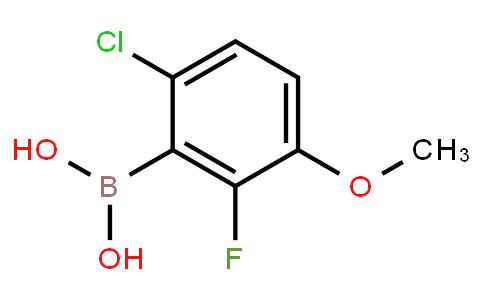 BP20951 | 867333-04-8 | 6-Chloro-2-fluoro-3-methoxyphenylboronic acid