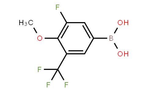 BP21009 | 1451391-99-3 | 3-Fluoro-4-methoxy-5-trifluoromethylphenylboronic acid