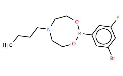 BP21223 | 1190989-06-0 | 3-Bromo-5-fluorophenylboronic acid N-butyldiethanolamine ester