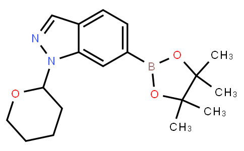 BP21343   1158680-98-8   1-(Tetrahydro-pyran-2-yl)-6-(4,4,5,5-tetramethyl-[1,3,2]dioxaborolan-2-yl)-1H-indazole