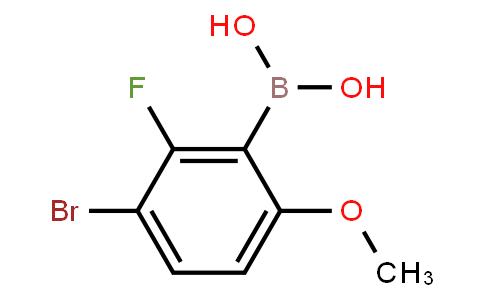 BP21390 | 1309980-91-3 | 3-Bromo-2-fluoro-6-methoxyphenylboronic acid