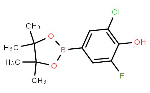 BP21621 | 1356953-67-7 | 2-Chloro-6-fluoro-4-(4,4,5,5-tetramethyl-1,3,2-dioxaborolan-2-yl)phenol