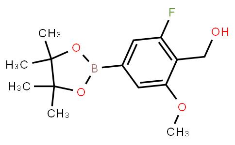BP21656 | 1417736-84-5 | [2-Fluoro-6-methoxy-4-(4,4,5,5-tetramethyl-1,3,2-dioxaborolan-2-yl)phenyl]methanol