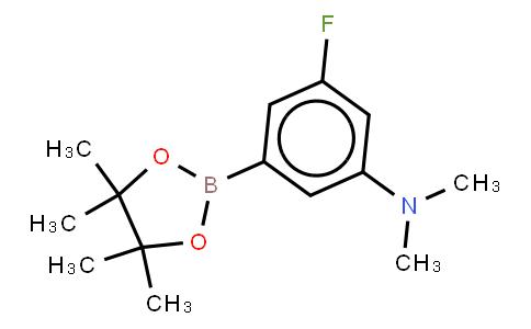 BP21680   1129542-03-5   3-Ffluoro-N,N-dimethyl-5-(4,4,5,5-tetramethyl-1,3,2-dioxaborolan-2-yl)aniline