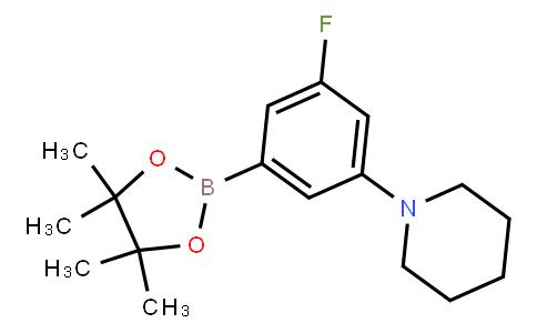 5-Fluoro-3-piperidinophenylboronic acid pinacol ester
