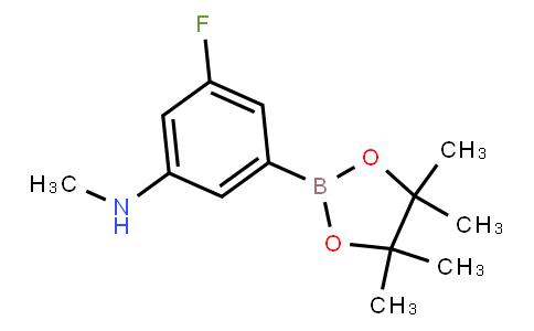 BP21695 | 3-Fluoro-N-methyl-5-(4,4,5,5-tetramethyl-1,3,2-dioxaborolan-2-yl)aniline