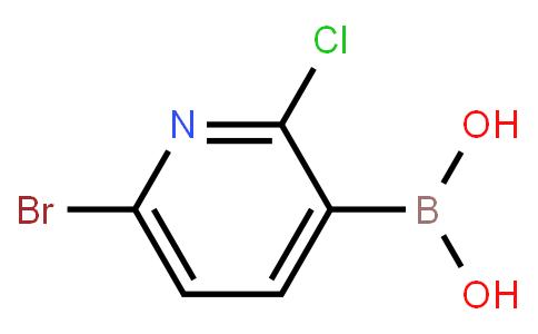 6-Bromo--2-chloropyridine-3-boronic acid