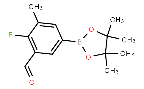 4-Fluoro-3-formyl-5-methylphenylboronic acid pinacol ester