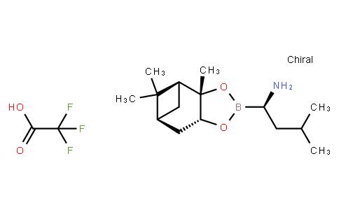BP22257 | 179324-87-9 | (R)-3-Methyl-1-((3aS,4S,6S,7aR)-3a,5,5-trimethylhexahydro-4,6-methanobenzo[d][1,3,2]dioxaborol-2-yl)butan-1-amine 2,2,2-trifluoroacetate