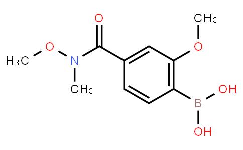 BP22621   2-Methoxy-4-(n-methoxy-n-methylcarbamoyl)phenylboronic acid