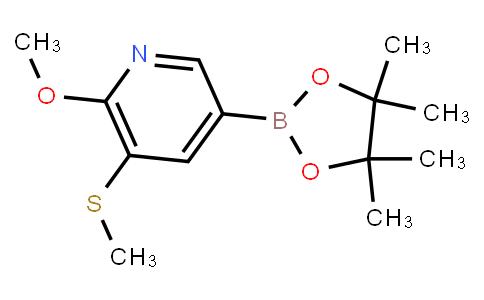 BP22663   (6-Methoxy-5-(methylthio)pyridin-3-yl)boronic acid pinacol ester