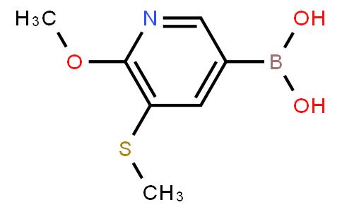 BP22668 | (6-Methoxy-5-(methylthio)pyridin-3-yl)boronic acid