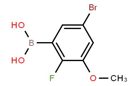 BP22671 | 5-Bromo-2-fluoro-3-methoxyphenylboronic acid