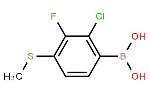 BP22678   2-Chloro-3-fluoro-4-(methylthio)phenylboronic acid