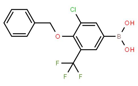 BP22752 | 4-(Benzyloxy)-5-chloro-3-(trifluoromethyl)phenylboronic acid