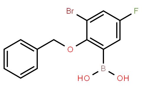 BP22799 | 2-Benzyloxy-3-bromo-5-fluorophenylboronic acid