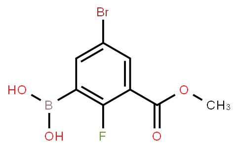 BP22801   5-Bromo-2-fluoro-3-methoxycarbonylphenylboronic acid