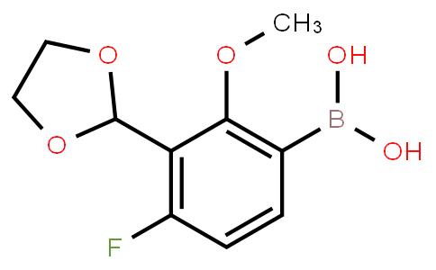 BP22863 | 3-(1,-Dioxolan-2-yl)-4-fluoro-2-methoxyphenylboronic acid