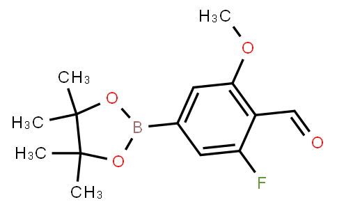 BP22878   5-Fluoro-4-formyl-3-methoxyphenylboronic acid pinacol ester