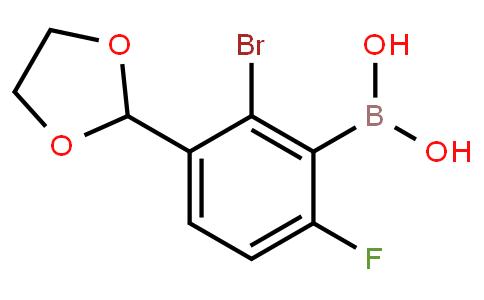BP22882 | 2-Bromo-3-(1,3-dioxolan-2-yl)-6-fluorophenylboronic acid