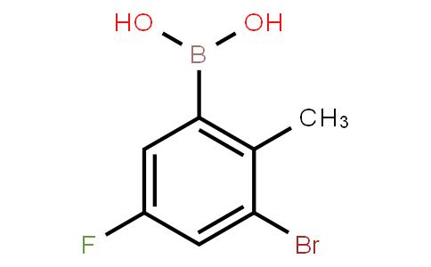 BP22890 | 3-Bromo-5-fluoro-2-methylphenylboronic acid
