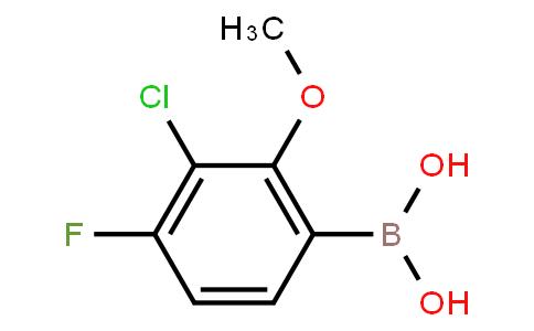 BP22927   3-Chloro-4-fluoro-2-methoxyphenylboronic acid