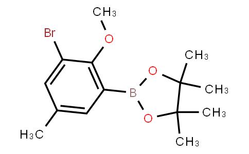 BP23057   2121513-42-4   2-(3-Bromo-2-methoxy-5-methylphenyl)-4,4,5,5-tetramethyl-1,3,2-dioxaborolane