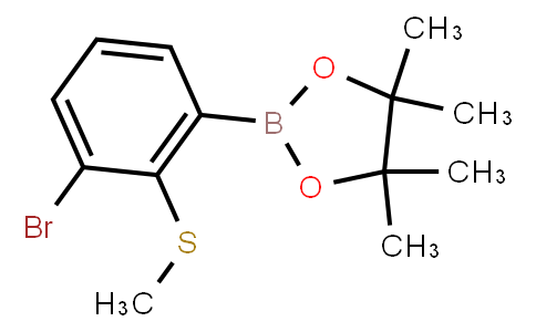 BP23167   2121513-93-5   3-Bromo-2-methylsulfanylphenylboronic acid, pinacol ester
