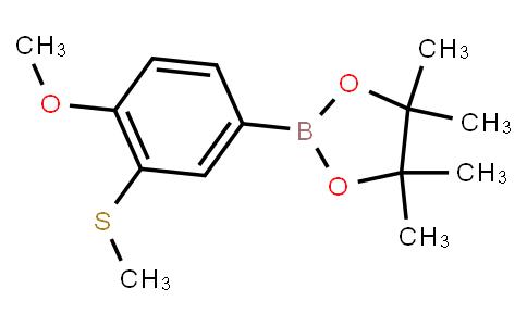 BP23221 | 1800575-35-2 | 2-[4-Methoxy-3-(methylthio)phenyl]-4,4,5,5-tetramethyl-1,3,2-dioxaborolane