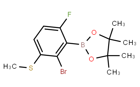 BP23377   2121512-00-1   2-Bromo-6-fluoro-3-(methylthio)phenylboronic acid pinacol ester