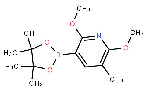 BP23417   2121513-65-1   2,6-Dimethoxy-5-methyl-3-(4,4,5,5-tetramethyl-1,3,2-dioxaborolan-2-yl)pyridine