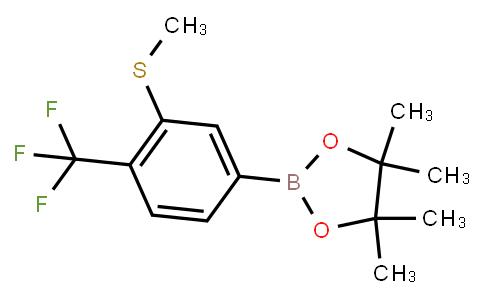 BP23590 | 2121514-10-9 | 3-(Methylthio)-4-(trifluoromethyl)phenylboronic acid pinacol ester